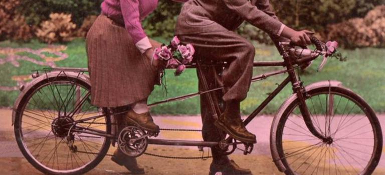 A bicyclette avec Annie et Denis